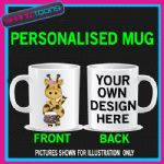 CUTE GIRAFFE LADIES MUG PERSONALISED GIFT 001